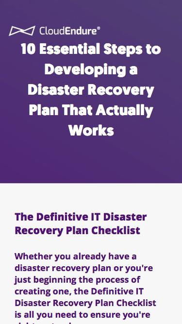 10 Essential Steps to Developing a Disaster Recovery Plan That Actually Works