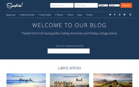 Screenshot of Blog snaptrip.com - Home - Snaptrip blog - captured May 19, 2018