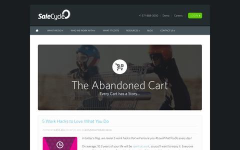 Screenshot of Blog salecycle.com - The Abandoned Cart - captured Oct. 1, 2015