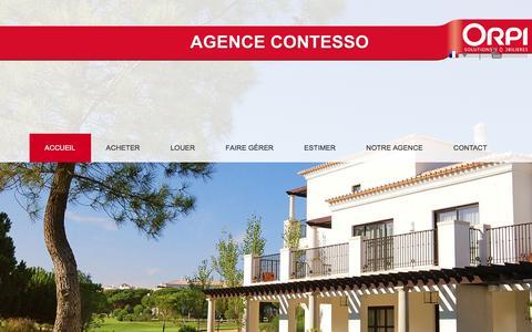 Screenshot of Home Page agence-contesso.com - Agence Contesso Orpi - agence immobilière Carros et environs de Carros - captured March 14, 2018