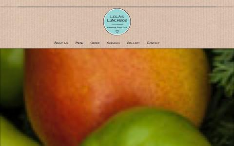 Screenshot of Home Page About Page Contact Page Services Page Menu Page lolaslunchbox.hk - Lola's Lunchbox   Homemade Fresh Food – Lunchbox Delivery – Catering – Events – Chef At Home in Hong-Kong - captured Sept. 30, 2014