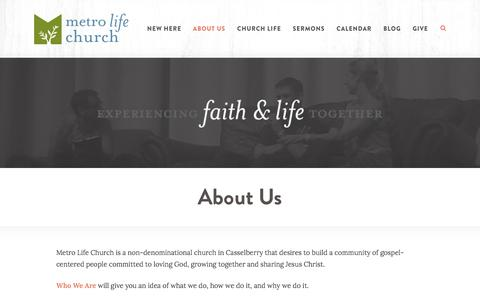 Screenshot of About Page metrolife.org - Metro Life Church: Casselberry, FL  > About Us - captured Oct. 18, 2017