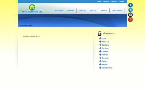 Screenshot of Case Studies Page vegasoftware.com - Vega Software Ltd | Case Studies - captured Oct. 7, 2014
