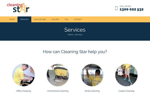 Screenshot of Services Page cleaningstar.com.au - Services - Cleaning Star - captured Nov. 4, 2018