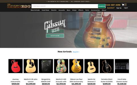 Screenshot of Home Page themusiczoo.com - The Music Zoo - New York - New & Used Guitars, Basses, Amps & Effects - captured Sept. 21, 2018