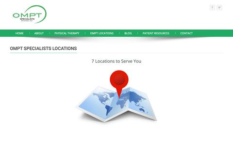 Screenshot of Locations Page omptspecialists.com - 7 Locations in metro Detroit to Serve You   OMPT Specialists - captured Oct. 19, 2018