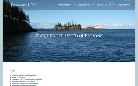 Screenshot of FAQ Page wordpress.com - Frequently Asked Questions | Downeast LNG - captured June 5, 2017