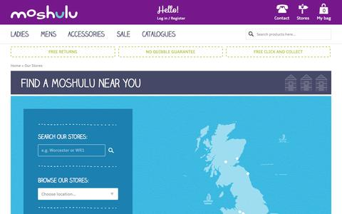 Screenshot of Locations Page moshulu.co.uk - Our Stores   Moshulu - captured Oct. 30, 2014