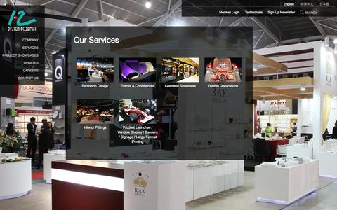 Screenshot of Services Page dezignformat.com.sg - Services | Festive Decorations, Stage Design, Mall Decoration, Exhibition Design Singapore - captured Sept. 30, 2014