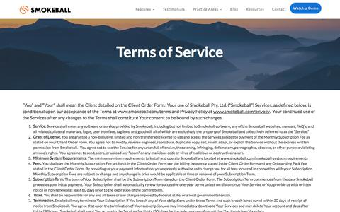 Terms of Service | Smokeball Legal Case Management Software