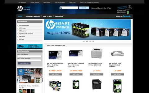 Screenshot of Home Page hp-egypt.com - HP Egypt | Hp products - captured April 10, 2016
