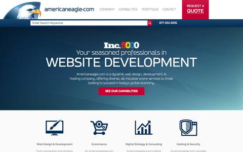 Screenshot of Home Page americaneagle.com - Web Design and Development | Americaneagle.com - captured Dec. 1, 2015
