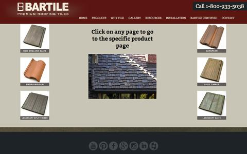 Screenshot of Products Page bartile.com - Products | Bartile - captured Oct. 10, 2017
