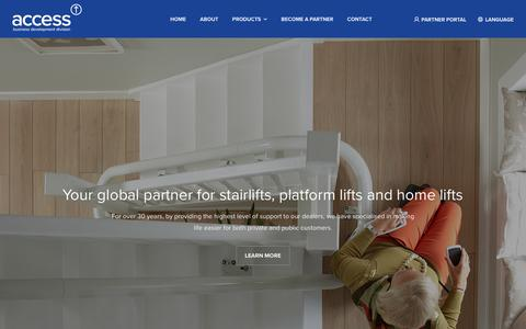 Screenshot of Home Page Privacy Page accessbdd.com - Global supplier of Stairlifts, Platform Lifts and Home Lifts | Access BDD - captured Oct. 2, 2018