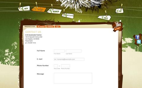 Screenshot of Contact Page 4-rth.com - Contact Us - Address Phone Map Email - captured Oct. 27, 2014