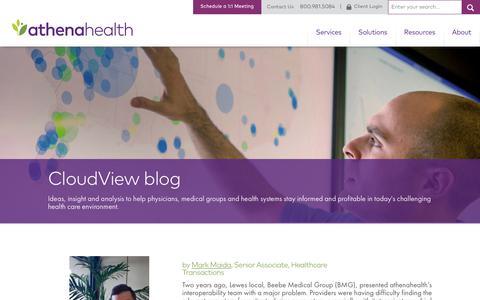 Screenshot of Blog athenahealth.com - Blogs Listing Page | athenahealth - captured Feb. 1, 2018