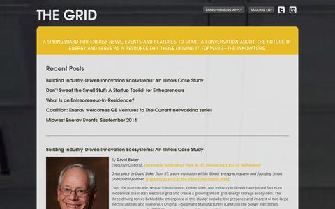 Screenshot of Blog energyfoundry.com - The Grid by Energy Foundry - captured Oct. 28, 2014
