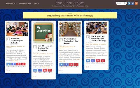 Screenshot of Home Page educetechnologies.com - Educe Technologies   Supporting Education With Technology - captured Jan. 18, 2015