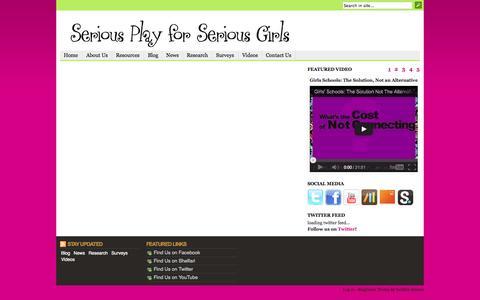 Screenshot of Case Studies Page seriousplayforseriousgirls.com - Case Studies | Serious Play For Serious Girls - captured Oct. 7, 2014
