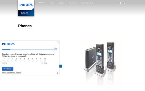 Screenshot of philips.com - Phones. Discover the full range | Philips - captured July 13, 2017