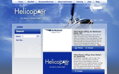 Screenshot of Jobs Page helicopter.com - Jobs | Helicopter.com - captured Nov. 2, 2014