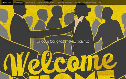 Screenshot of Home Page lincolntemple.org - Lincoln Temple United Church Of Christ - Washington DC - captured Sept. 30, 2015
