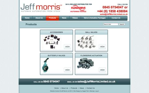 Screenshot of Products Page jeffmorrislimited.co.uk - Products | Jeff Morris Limited - captured Sept. 30, 2014