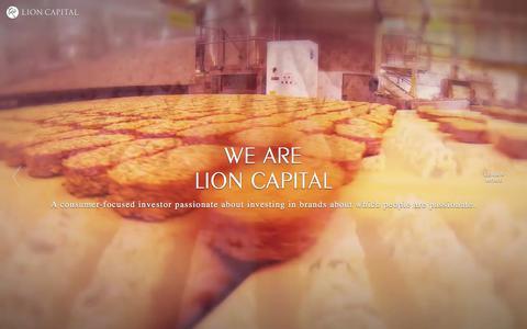 Screenshot of Home Page lioncapital.com - Lion Capital - captured July 20, 2018