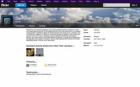 Screenshot of Flickr Page flickr.com - Flickr: Savhotel - captured Oct. 23, 2014
