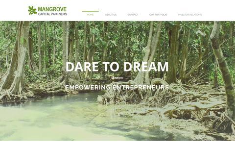 Screenshot of Home Page mangrove.vc - Mangrove Capital Partners | Home - captured Nov. 13, 2015