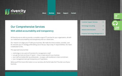 Screenshot of Services Page rivercity.net.au - Rivercity Solutions - captured Feb. 17, 2016