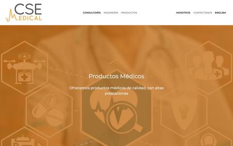 Screenshot of Products Page medicalcse.com - MedicalCSE Company - captured Oct. 17, 2018