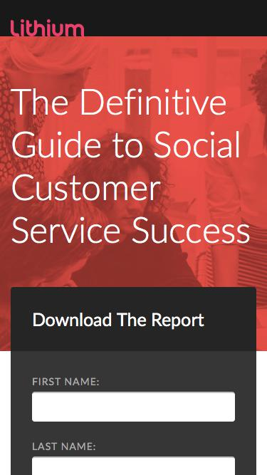 The Definitive Guide to Social Customer Service Success in 2017 | Lithium Resources