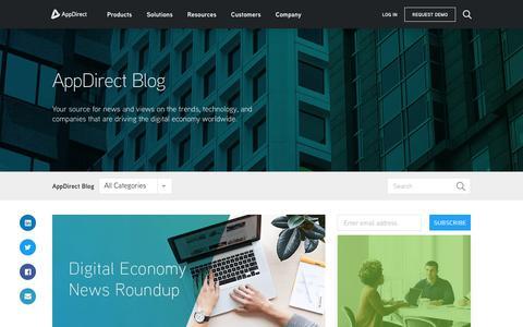Screenshot of Blog appdirect.com - AppDirect Blog - AppDirect - captured Nov. 28, 2018