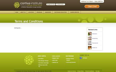 Screenshot of Terms Page cortiva.com - Website Usage - Terms & Conditions - captured Oct. 3, 2014