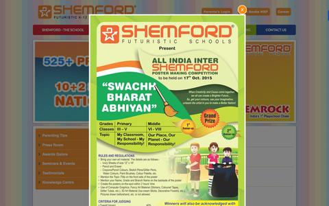 Screenshot of Press Page shemford.com - Get Updated News of SHEMROCK and SHEMFORD Group of schools. - captured Oct. 27, 2015