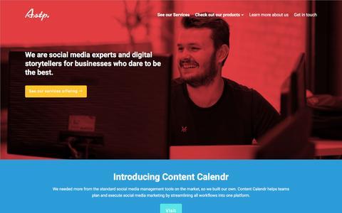 Screenshot of Home Page astp.co - ASTP | Social Media and Digital Agency | London UK - captured Nov. 19, 2016