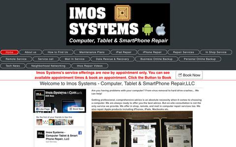 Screenshot of Home Page imossystems.com - Computer Repair - Imos Systems - Computer, Tablet & SmartPhone Repair Services - www.SmartPhoneMechanic.com - captured Oct. 14, 2017