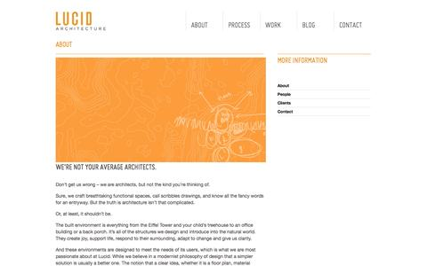 Screenshot of About Page lucidarc.com - About // Lucid Architecture - captured Oct. 3, 2014