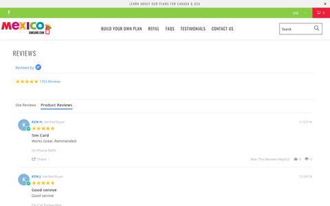 Screenshot of Testimonials Page mexicosimcard.com - Mexico SIM Card Reviews - Best Prepaid SIM Cards for Mexico - captured Dec. 7, 2018