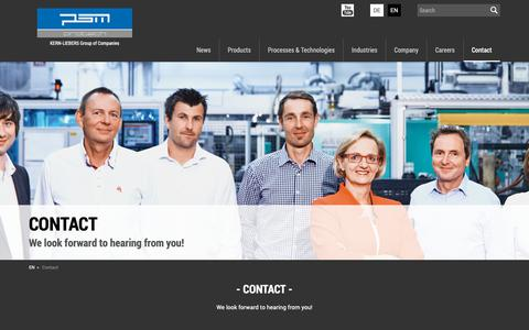 Screenshot of Contact Page psm-protech.com - Contact - PSM PROTECH GmbH - captured Sept. 30, 2018