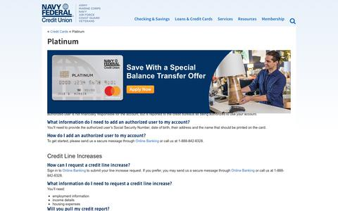Platinum Credit Card   Military Credit Cards   Credit Cards for Military Personnel   Navy Federal Credit Union