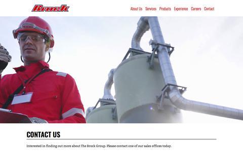 Screenshot of Contact Page brockgroup.com - Contact - Brock Group - captured Sept. 21, 2018