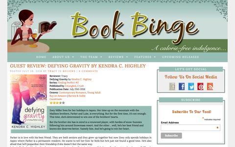 Book Binge | ...a calorie-free indulgence