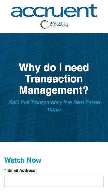 Why do I need Transaction Management? - Registration
