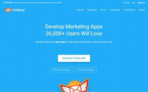 Screenshot of Developers Page sendloop.com - Email Marketing for Developers | Sendloop - captured Sept. 22, 2018