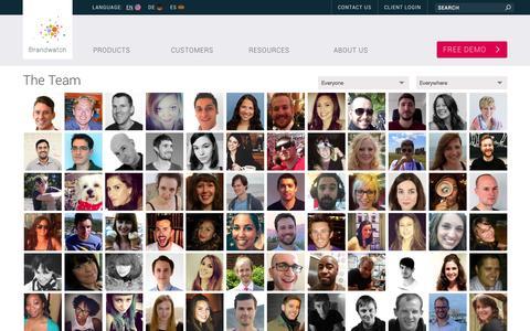 Screenshot of Team Page brandwatch.com - Meet the Team - Brandwatch - captured June 17, 2015