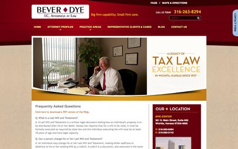 Screenshot of FAQ Page beverdye.com - Frequently Asked Questions - Bever Dye, LC in Wichita, KS - captured Oct. 5, 2014