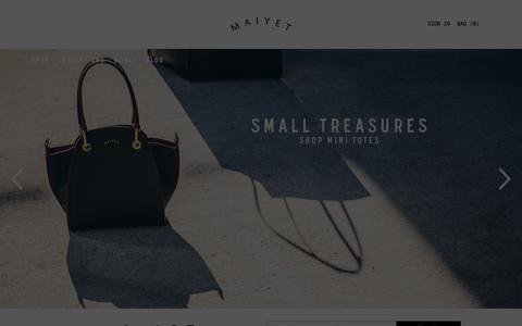 Screenshot of Home Page maiyet.com - Maiyet - captured Oct. 28, 2015
