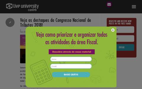 Screenshot of Blog liveuniversity.com - Blog - Confeb - captured Sept. 29, 2018